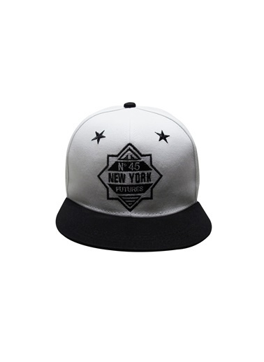 Laslusa No 45 New York Hip Hop Snapback Şapka Beyaz